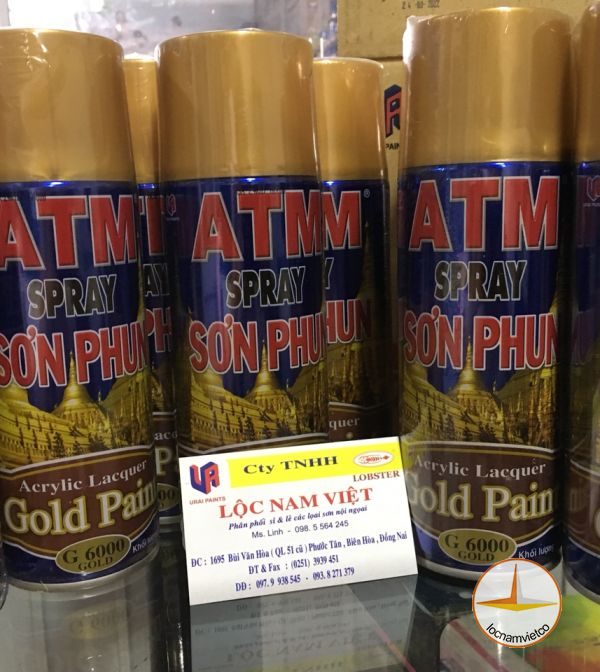 ATM spray Acrylic Lacquer Gold paint G 6000